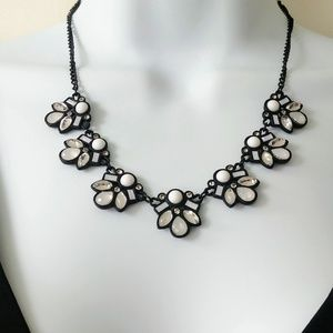 Loft black and white necklace